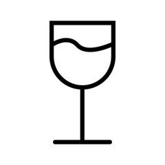 Wine glass vector icon