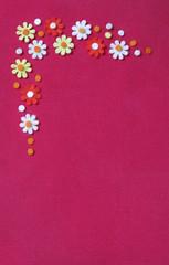 Textil flowers frame decoration