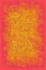 illustration hippie background i