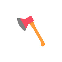 Axe flat icon, build & repair elements, construction tool, a colorful solid pattern on a white background, eps 10.