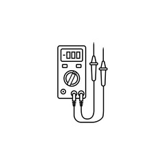 Electric tester line icon, build & repair elements, construction tool, a linear pattern on a white background, eps 10.
