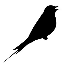 Swallow Silhouette. Vector EPS 10.