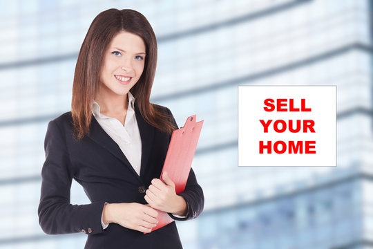 young woman real estate agent