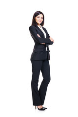 Young, confident, successful and beautiful business woman isolat