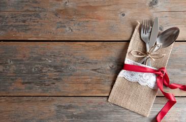 Romantic table menu background