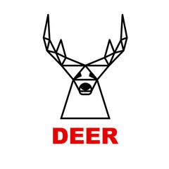 Vector logo deer