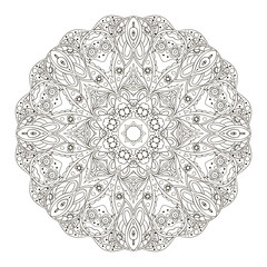 Mandala. Round oriental pattern. Doodle drawing. Hand drawing. Yoga, relaxation, floral motifs