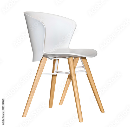 Modern plastic kitchen chair isolated on white background for White plastic kitchen chairs