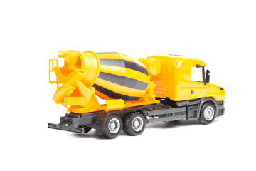 yellow truck concrete mixer