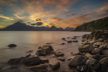 The sun has set, Elgol