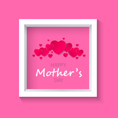 Beautiful frame on a pink background.Mother's day.