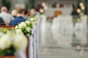 church wedding decor white flowers