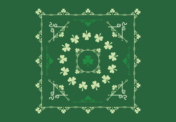 Shamrock Patterned St. Patrick's Day Card Layouts 1