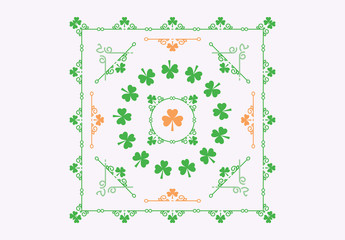 Shamrock Patterned St. Patrick's Day Card Layouts 3