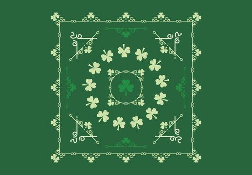 Shamrock Patterned St. Patrick's Day Card Layouts 1