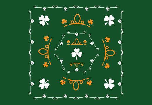 Shamrock Patterned St. Patrick's Day Card Layouts 2