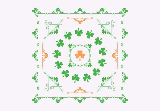 Shamrock Patterned St. Patrick's Day Card Layouts 3