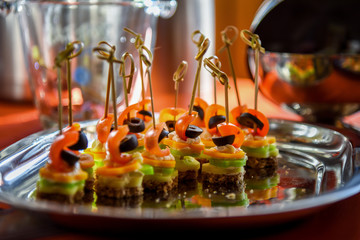 Beautifully decorated catering