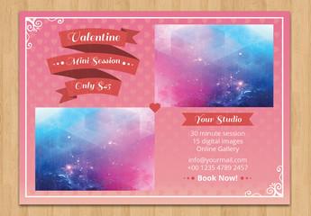 Fancy Border Valentine's Day Card Layout