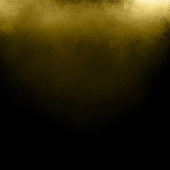 black and gold background, old dark vintage grunge texture with shiny corner lighting and yellow streak or stripe across top header or border