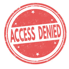 Access denied sign or stamp