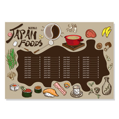 menu sushi drawing graphic  design objects template