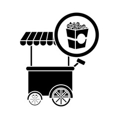 french fries car icon, vector illustration image