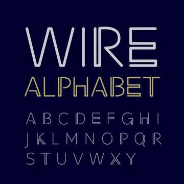Vector linear uppercase alphabet