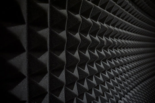 Close up of studio sound acoustical foam Background