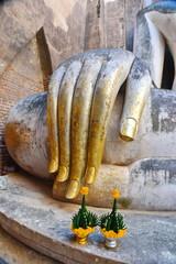 Hand of Phra Ajana at Wat Si Chum,Sokhothai Historical Park,Sukhothai Province,Thailand.