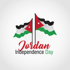 Jordan Independence Day Vector Illustration. Suitable for Greeting Card, Poster and Banner