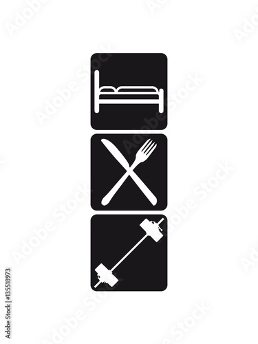 3 logos healthy eat sleep train logo stamp buttons weight