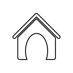 dog house pet accesory icon vector illustration graphic design