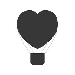 heart love airballoon flying pictogram vector illustration eps 10