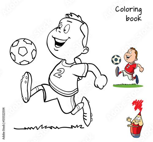 u0026quot football player  coloring book  cartoon vector