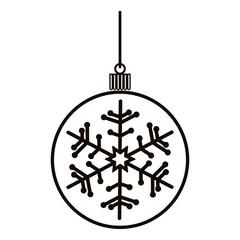 Decorative christmas ball icon vector illustration graphic design