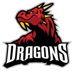 Drago head mascot