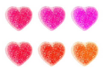 Valentines Day Heart Candy Isolated on White Background