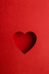 red cut out heart