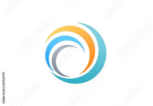 Sphere Global Swirl Elements Logo Abstract Spiral Symbol Twist