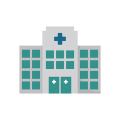 building hospital medicine healthcare vector illustration eps 10