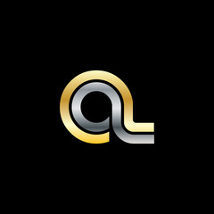 Initial Letter OL CL Linked Design Logo
