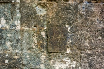 texture of an ancient wall from a stone brick