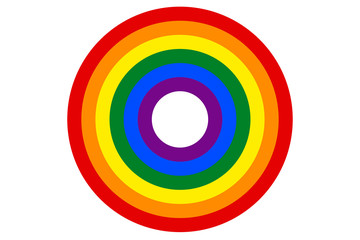 LGBT rainbow flag is the target vector