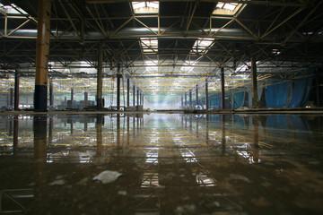 Yelabuga, Russia: Repair shops abandoned fac