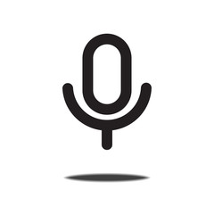 Microphone icon,Vector illustration