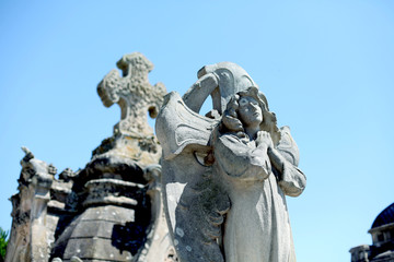 A monument on the cemetery of Holy Spain