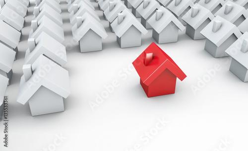 rotes haus mit grundfl che konzept eigenheim finanzierung kredit oder nachbarschaft. Black Bedroom Furniture Sets. Home Design Ideas