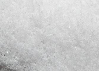 background of snow. macro