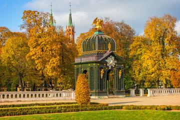 Obraz Ogrody Pałacu Branickich jesienią, Białystok, Polska - fototapety do salonu